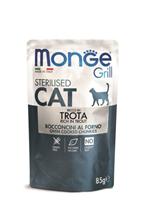Monge Grill buste Sterilized trota / Влажный корм Паучи Монж для Стерилизованных кошек Итальянская форель (цена за упаковку)