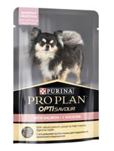 Purina Pro Plan Sensitive Digestion OptiSavour Salmon / Влажный корм (Паучи) Пурина Про План для собак Мелких и карликовых пород с Чувствительным пищеварением Лосось (цена за упаковку)