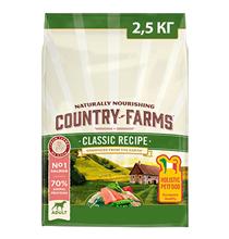 Country Farms Dog Adult Classic recipe Salmon / Сухой Классический полнорационный корм Кантри Фармз для взрослых собак с высоким содержанием Лосося