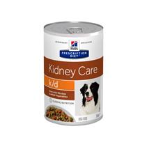 Заказать Hills Prescription Diet Canine k / d Лечебные консервы для собак Заболевание почек Рагу с Курицей и добавлением овощей (Цена за упаковку) по цене 2750 руб