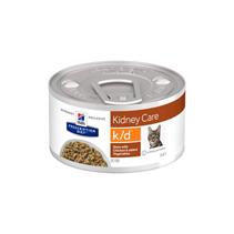 Hills Prescription Diet Feline k / d Chicken Лечебные консервы для кошек Заболевание почек Рагу с Курицей и добавлением овощей (цена за упаковку)