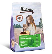 Karmy Sterilized / Сухой корм Карми для Стерилизованных кошек Индейка