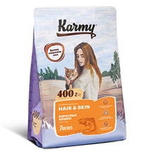 Karmy Hair & Skin / Сухой корм Карми для кошек Здоровье Кожи и Шерсти Лосось