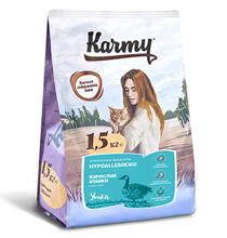 Karmy Hypoallergenic / Сухой корм Карми для кошек Гипоаллергенный Утка