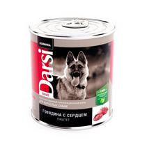 Darsi Adult / Паштет Дарси для взрослых собак Говядина с сердцем (цена за упаковку)