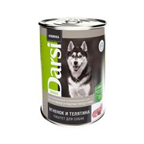 Darsi Active / Паштет Дарси для Активных и рабочих пород собак Ягненок и Телятина (цена за упаковку)