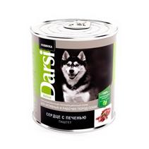 Darsi Active / Паштет Дарси для Активных и рабочих пород собак Сердце с печенью (цена за упаковку)