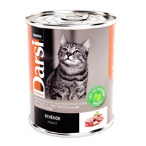 Darsi Sensitive / Паштет Дарси для взрослых кошек с Чувствительным пищеварением Ягненок (цена за упаковку)