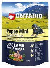 Ontario Puppy Mini Lamb & Rice / Сухой корм Онтарио для Щенков Мелких пород с Ягненком и рисом