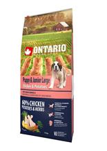 Ontario Puppy & Junior Large Chicken & Potatoes / Сухой корм Онтарио для Щенков Крупных пород с Курицей и картофелем