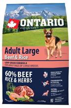 Ontario Adult Large Beef & Rise / Сухой корм Онтарио для взрослых собак Крупных пород с Говядиной и рисом