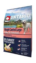 Ontario Adult Large Weight Control Turkey & Potatoes / Сухой корм Онтарио для взрослых собак Крупных пород Контроль веса с Индейкой и картофелем