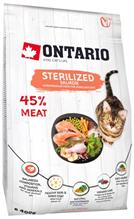 Ontario Sterilised Salmon / Сухой корм Онтарио для Стерилизованных кошек с Лососем