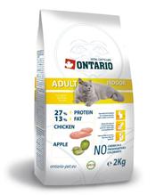 Ontario Adult Indoor / Сухой корм Онтарио для Домашних кошек с Цыпленком
