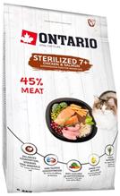Ontario Sterilised 7+ / Сухой корм Онтарио для Пожилых Стерилизованных кошек с Курицей