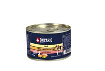 Ontario Mini Calf Sweetppotato Dandelion Linseed oil / Консервы Онтарио для собак Телятина и батат (цена за упаковку)