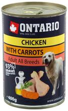Ontario Chicken Carrots Salmon Oil / Консервы Онтарио для собак Курица и морковь (цена за упаковку)