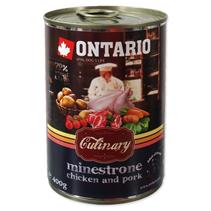 Ontario Culinary Minestrone Chicken Pork / Консервы Онтарио для собак Минестроне с Курицей и свининой (цена за упаковку)
