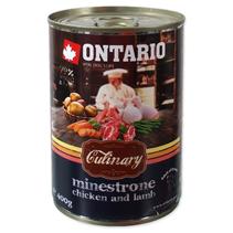 Ontario Culinary Minestrone Chicken Lamb / Консервы Онтарио для собак Минестроне с Курицей и ягненком (цена за упаковку)