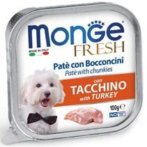 Monge Dog Fresh Turkey / Влажный корм Консервы Монж Фреш для взрослых собак Индейка (цена за упаковку)