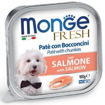 Monge Dog Fresh Salmon / Влажный корм Консервы Монж Фреш для взрослых собак Лосось (цена за упаковку)