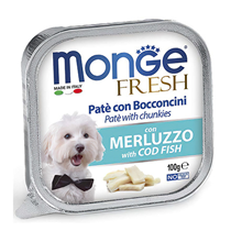Monge Dog Fresh Cod Fish / Влажный корм Консервы Монж Фреш для взрослых собак Треска (цена за упаковку)