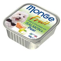 Monge Dog Fruit Salmon / Влажный корм Консервы Монж Фрукт для взрослых собак Лосось с Грушей (цена за упаковку)