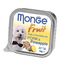 Monge Dog Fruit Pork / Влажный корм Консервы Монж Фрукт для взрослых собак Свинина с Ананасом (цена за упаковку)