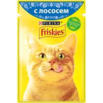 Friskies / Паучи Фрискис для кошек с Лососем (цена за упаковку)