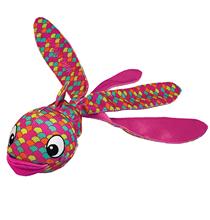Kong Wubba Finz Small / Игрушка Конг для собак Рыба с пищалкой Розовая