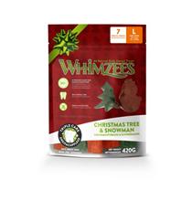Заказать Whimzees Christmas Tree & Snowman / Лакомство для собак весом от 18 до 27 кг по цене 750 руб