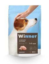 Заказать Winner Adult / Сухой корм для взрослых собак Мелких пород Курица по цене 240 руб