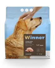 Заказать Winner Adult / Сухой корм для взрослых собак Крупных пород Курица по цене 820 руб