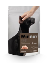 Заказать Winner Adult / Сухой корм для взрослых кошек с Мочекаменной болезнью Курица по цене 150 руб