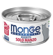 Monge Cat Monoprotein / Консервы Монж Монопротеиновые для кошек Хлопья Говядины (цена за упаковку)