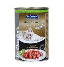 Dr Clauder / Консервы Доктор Клаудер для кошек Кусочки в соусе с Кроликом (цена за упаковку)