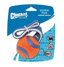 Petmate Chuckit! Ultra Tug / Игрушка для собак Перетяжка - Теннисный мяч Ультра Резина