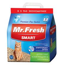 Mr.Fresh Smart / Наполнитель Мистер Фреш для Короткошёрстных кошек Древесный