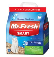 Mr.Fresh Smart / Наполнитель Мистер Фреш для Длинношёрстных кошек Древесный