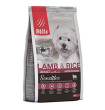 Blitz Sensitive Adult Small Breeds Lamb & Rice / Сухой корм Блиц для взрослых собак Мелких пород Ягненок рис