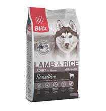 Blitz Sensitive Adult All Breeds Lamb & Rice / Сухой корм Блиц для взрослых собак всех пород Ягненок рис