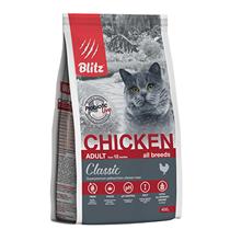 Blitz Classic Adult Chicken / Сухой корм Блиц для взрослых кошек Курица