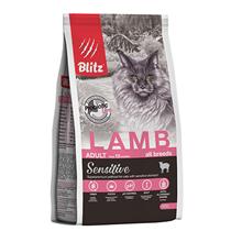 Blitz Sensitive Adult Lamb / Сухой корм Блиц для взрослых кошек Ягненок