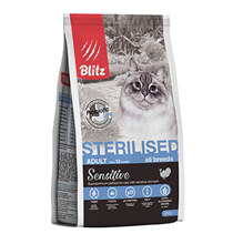 Blitz Sensitive Adult All Breeds Sterillised / Сухой корм Блиц для Стерилизованных кошек всех пород