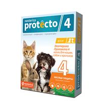 Neoterica Protecto 4 / Капли Неотерика Протекто от Клещей и Блох для кошек и собак весом до 4 кг