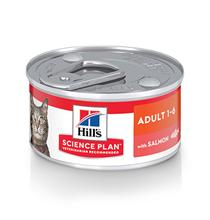 Заказать Hills Adult Salmon / Консервы для взрослых кошек от 1 года до 6 лет с Лососем Цена за упаковку по цене 1650 руб