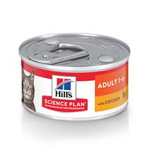 Заказать Hills Adult Chicken / Консервы для взрослых кошек от 1 года до 6 лет с Курицей Цена за упаковку по цене 1650 руб