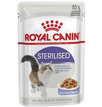 Royal Canin Sterilised Jelly / Влажный корм (Консервы-Паучи) Роял Канин Стерилайзд для взрослых кастрированных котов и Стерилизованных кошек в Желе (цена за упаковку)