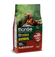 Monge Dog BWild Grain Free Adult All Breeds Lamb Potatoes Peas / Сухой Беззерновой корм Монж Бивайлд для взрослых собак всех пород Ягненок картофель горох