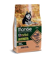 Monge Dog BWild Grain Free Adult All Breeds Salmon Peas / Сухой Беззерновой корм Монж Бивайлд для взрослых собак всех пород Лосось горох